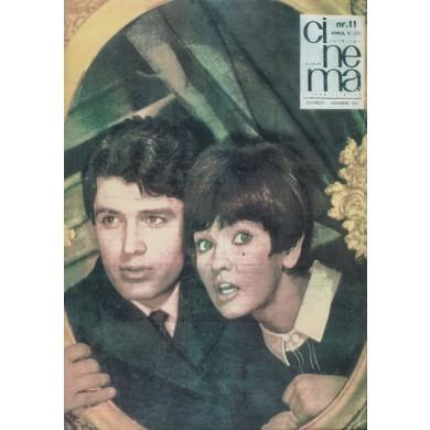 """Coperta revistei """"Cinema"""", reprezentându-i pe Margareta Pâslaru şi Cornel Fugaru, nr.11, Bucureşti,1967, provine din colecţia artistei Margareta Pâslaru"""