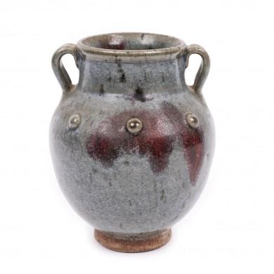 "Rar vas cu anse, glazurat tip ""blană de iepure"", în maniera ""Jun"", începutul dinastiei Ming, China, sec. XVII"