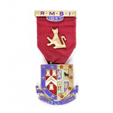 "Ordin masonic din argint aurit al ""Royal Masonic Benevolent Institution"", 1937"