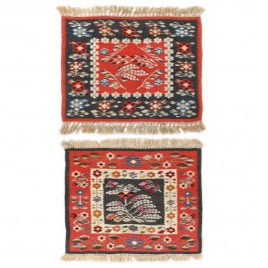 Pereche de carpete oltenești din lână, Craiova, al doilea sfert al sec. XX