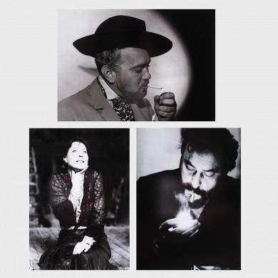 Lot alcătuit din 3 fotografii-portret ale marilor actori Amza Pellea, Gina Patrichi şi George Constantin