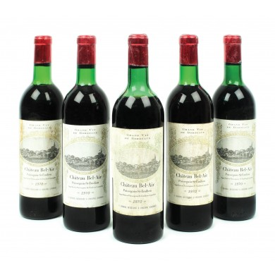 Lot 5 sticle Château Bel-Ami, Puisseguin Saint-Émilion, 1970, 75cl.
