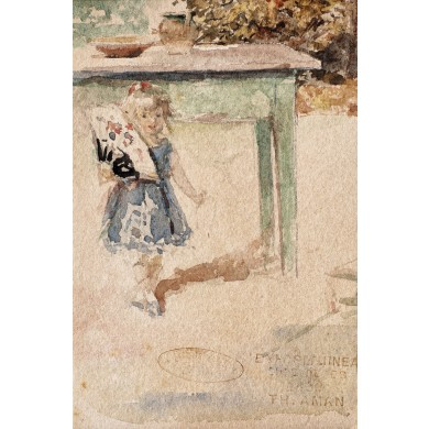 Fetiță cu evantai