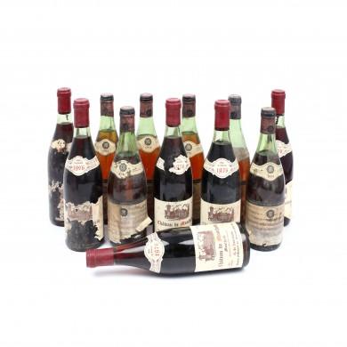 Pereche de câte 6 vinuri de Burgundia, 1974-1976