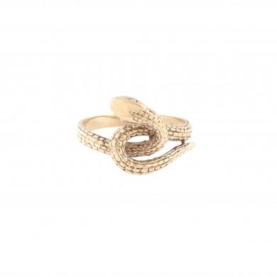 Interesant inel din aur, în formă de șarpe