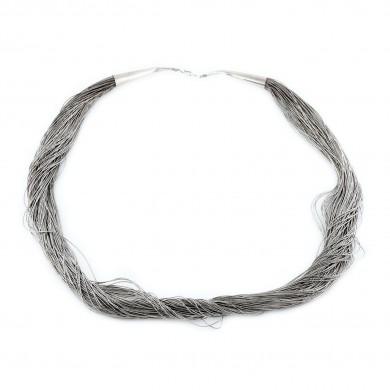 """Elegant fluidity"" - colier din argint"