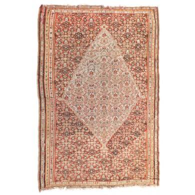 """Covor Kilim din lână, decorat cu motive tradiționale """"elibelinde"""" și motive geometrice, Turcia, sfârșitul sec. XIX, provine din colecţia Lucrezia și Ion Pacea"""