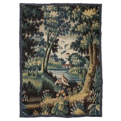 Tapiserie tip Aubusson, ilustrând un peisaj pastoral, Franța. sec. XVIII, provine din colecţia Lucrezia și Ion Pacea