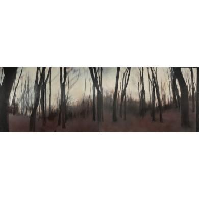 Pădurea de cenuşă V (diptic)