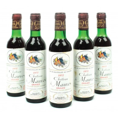Lot 5 sticle Château de Mauves, Graves, 1972, 50cl