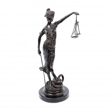 Justiția, reducție după celebra sculptură a lui Alois Mayer, pentru birou