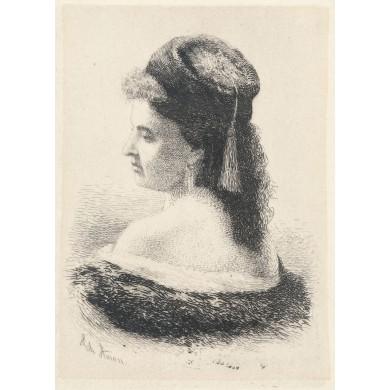 Bust de femeie (cadână cu fes)