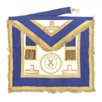 Şorț masonic de Maestru de Ceremonie, Sussex
