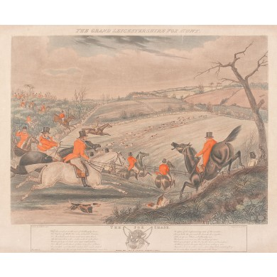 Adunarea câinilor de vănătoare (Marea vânătoarea de vulpi din Leicestershire)