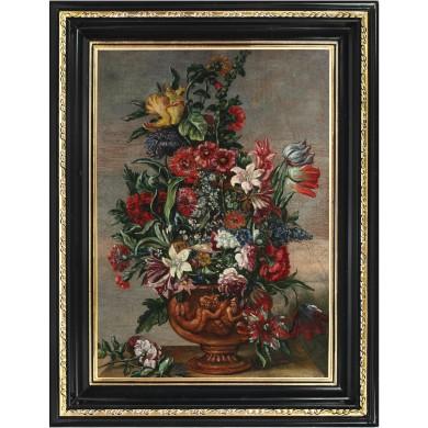 Flori în vas de teracotă