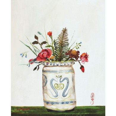 Vas italian cu flori