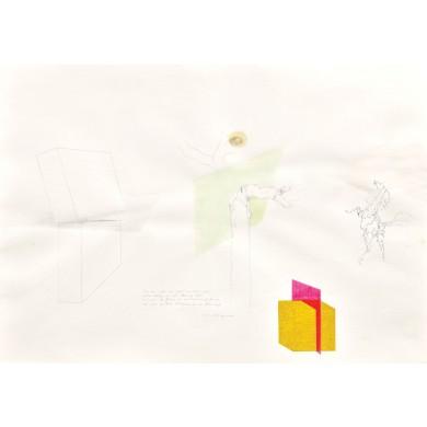 Un cub galben străpuns