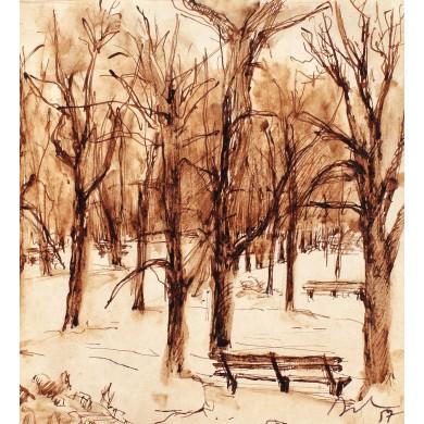 Iarna în Copou