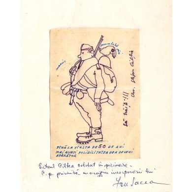 Carte poștală trimisă de pictorul Ștefan Câlția către Ion Pacea