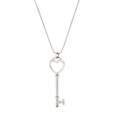 Pandantiv și lanț Tiffany, din argint, în formă de cheiță