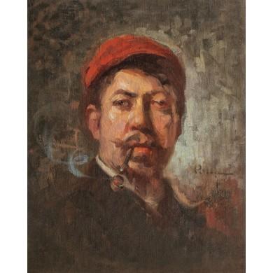 Autoportret cu pipă