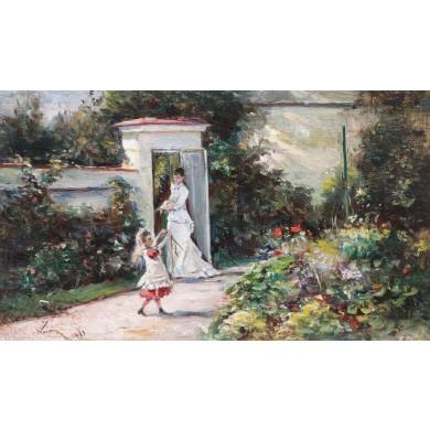 În grădină