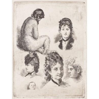 Cinci figuri şi un nud