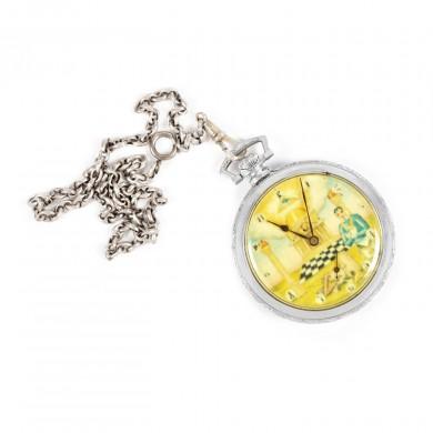 Ceas de buzunar, decorat cu însemne masonice