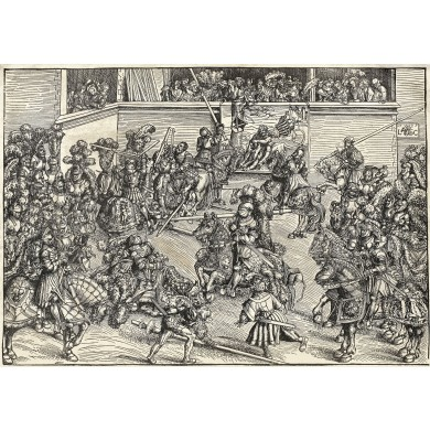 Turnir cu tapiseria luptei lui Samson cu leul
