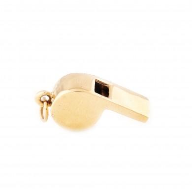 Mărțișor-pandantiv din aur, sub formă de fluier