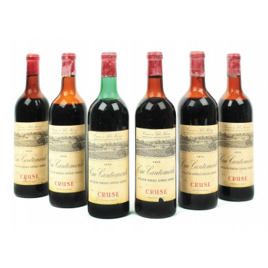 Lot 6 sticle Cruse Cru Cantemerle, Gironde, 1970, 78cl