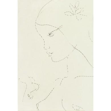 Fata cu floare în păr