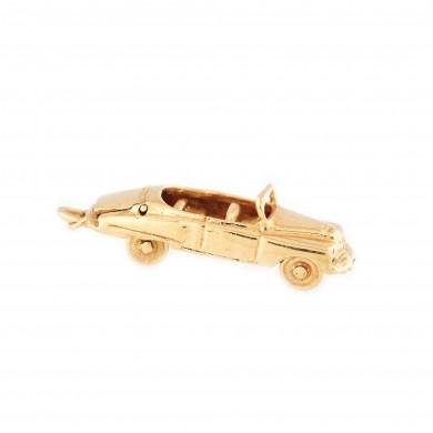 Mărțișor-pandantiv din aur, în formă de automobil