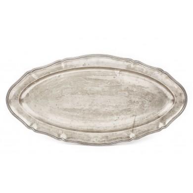 Platou din argint, pentru pește, cu efigia Regelui Carol I, 1926-1932