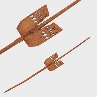 Furcă de tors, cu aripi, Mărginimea Sibiului, datată 1902