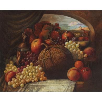 Natură statică cu fructe de toamnă