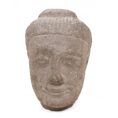 Fragment of a statuette illustrating Buddha smiling (Xiao Fo), the Ming dynasty, China, the 15th-16th century