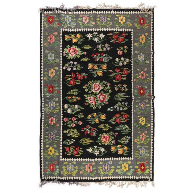 Oltenia wool rug with rich floral decorations, approx. 1975