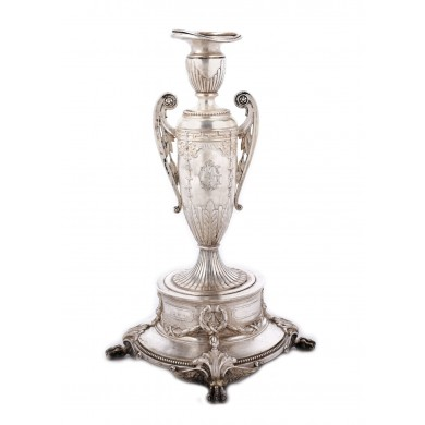 H. Meyen Surtout-de-table made of silver, in the Empire method, approx. 1900, from the Lucrezia and Ion Pacea collection