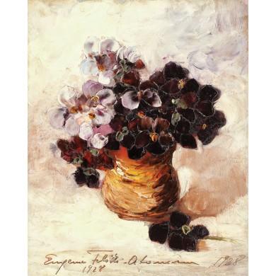 Pot with Violets