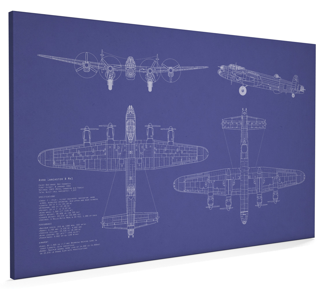 Avro lancaster bomber blueprint box canvas and poster print 133 ebay avro lancaster bomber blueprint box canvas and poster print 133 malvernweather Gallery