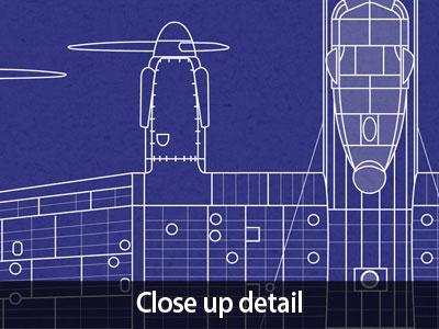 Avro lancaster bomber blueprint box canvas and poster print 133 ebay description avro lancaster blueprint malvernweather Gallery