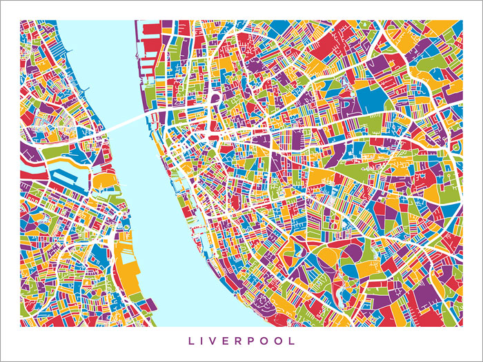 Everton England Map.Liverpool England City Map Poster Art Print 1565 Ebay