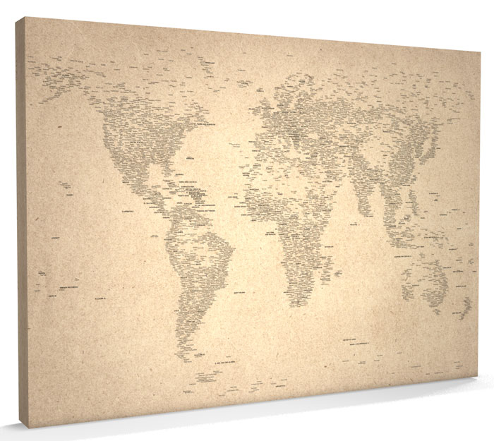 Map of the World Map CANVAS art print A1 - m162 | eBay