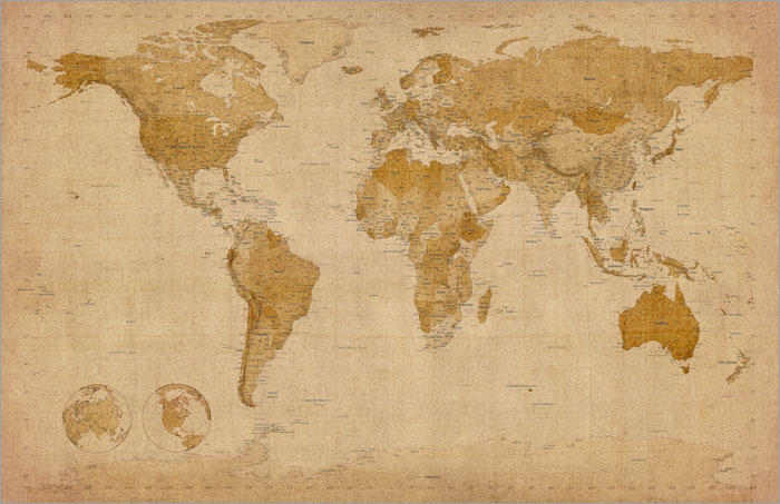 World map antique old style box canvas and poster print 228 ebay world map antique old style box canvas and poster print 228 gumiabroncs Image collections