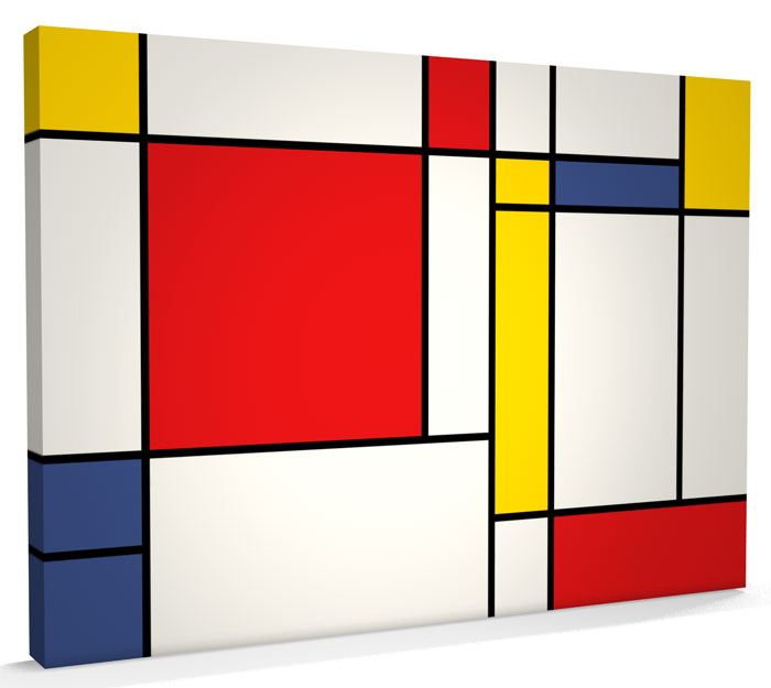 abstract mondrian style art box canvas a3 to a1 v247 ebay. Black Bedroom Furniture Sets. Home Design Ideas