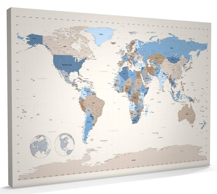 Modern World Map Canvas. X Poster Tags Frame How To Cut Board  A1 world map poster World Maps Posters At AllPosterscom Vintage Map Black