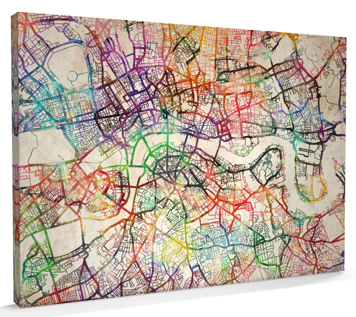 Map Artwork - London Map Canvas Art