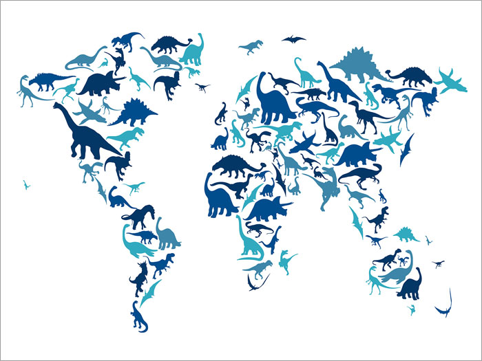 Dinosaur map of the world map box canvas and poster print 583 ebay dinosaur map of the world map box canvas and poster print 583 gumiabroncs Choice Image