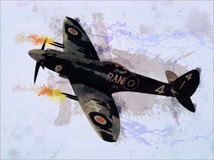 Supermarine Spitfire canvas art print poster